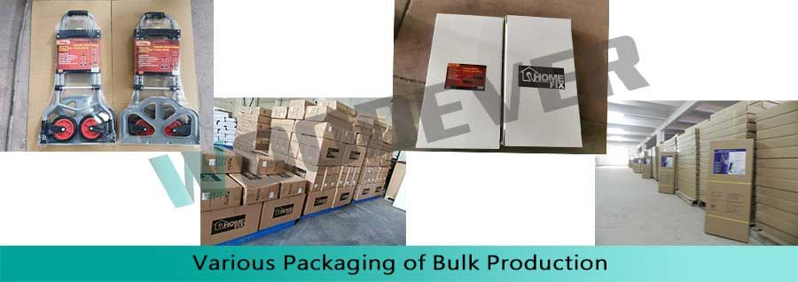 various type packaging of hand truck in massive production